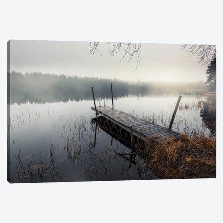 Foggy Lake Canvas Print #STR258} by Andreas Stridsberg Canvas Art Print