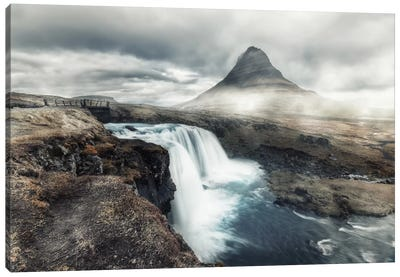 Kirkjufell In Mist Canvas Print #STR28