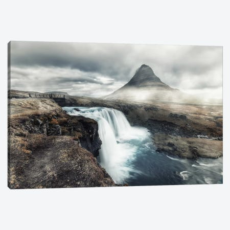 Kirkjufell In Mist Canvas Print #STR28} by Andreas Stridsberg Canvas Art Print