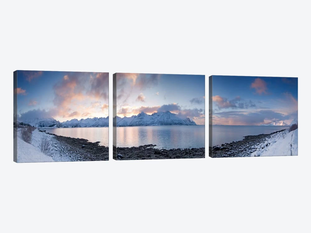 A Winter Panorama by Andreas Stridsberg 3-piece Canvas Art Print