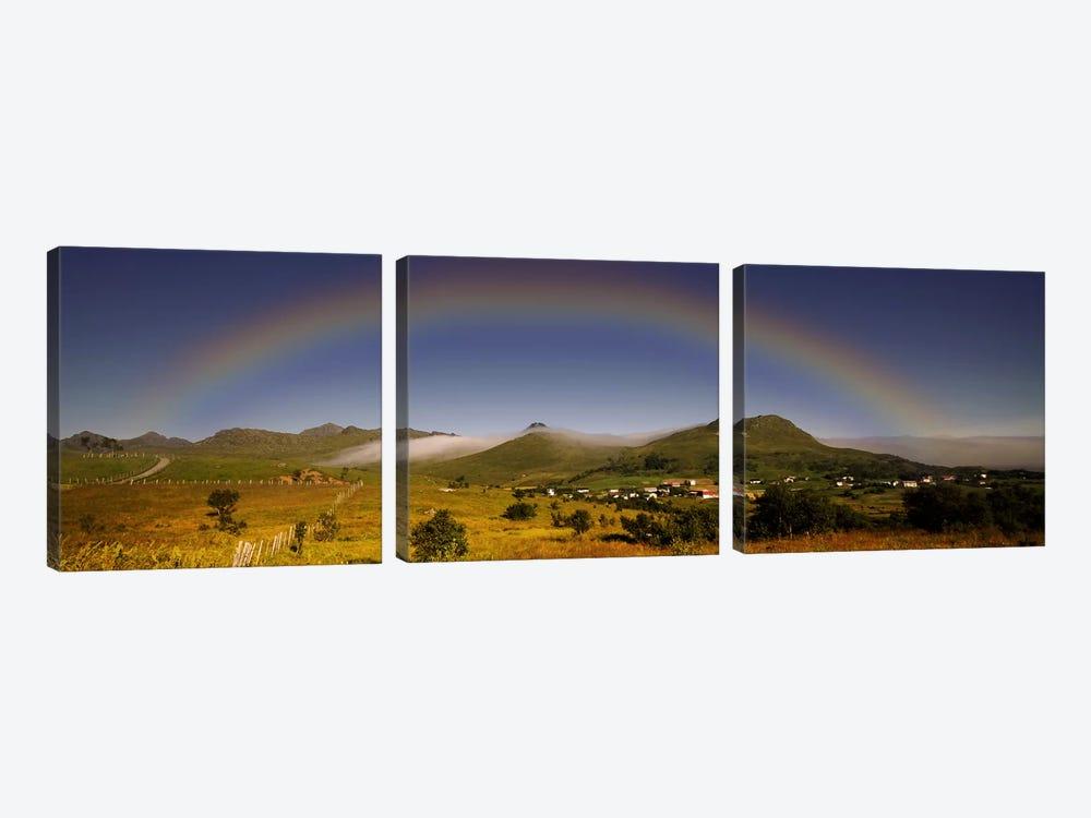 Lofoten Rainbow by Andreas Stridsberg 3-piece Canvas Art Print