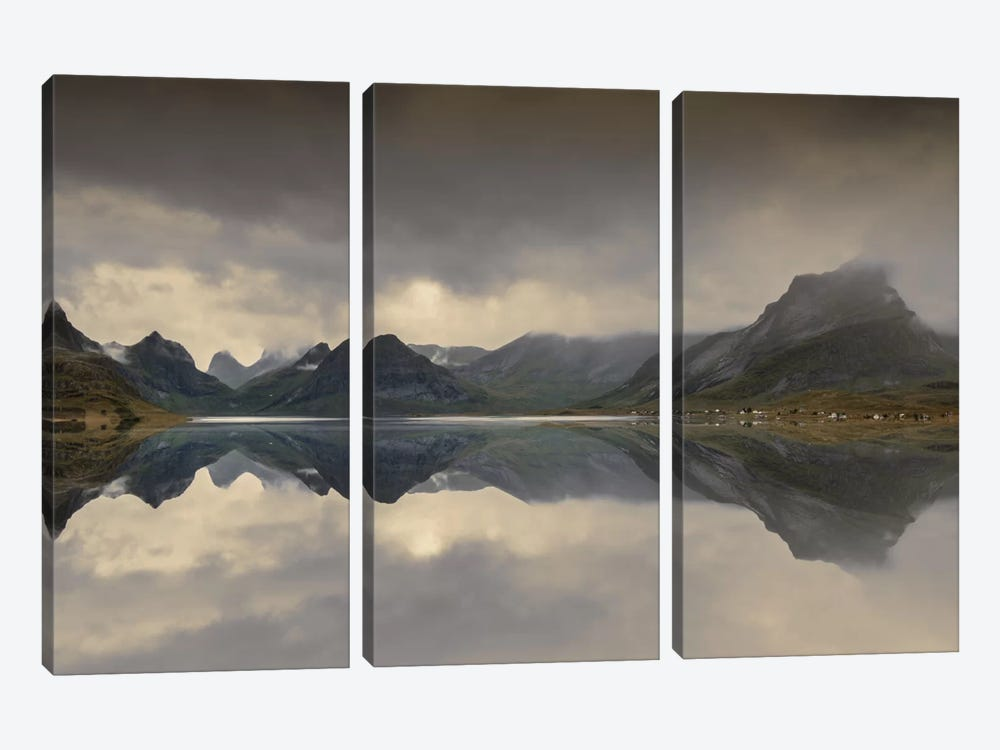 Mirrored Beauty by Andreas Stridsberg 3-piece Canvas Print