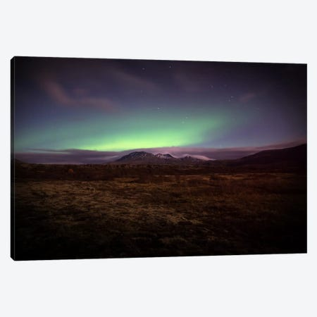 Northern Lights Canvas Print #STR41} by Andreas Stridsberg Canvas Art Print