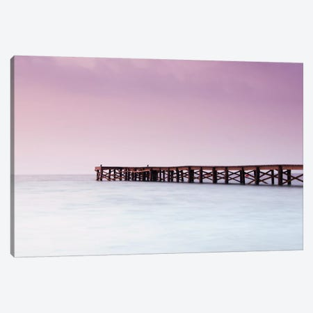 Pink Pier Canvas Print #STR43} by Andreas Stridsberg Art Print