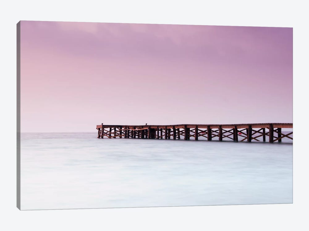Pink Pier by Andreas Stridsberg 1-piece Canvas Print