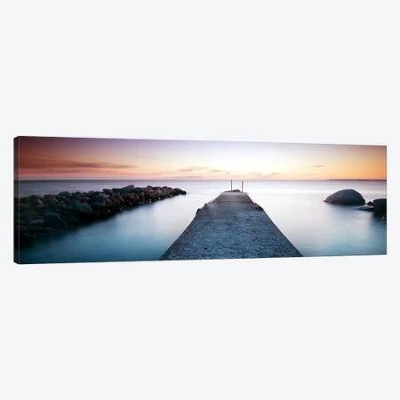 Placid Pier Canvas Print #STR44} by Andreas Stridsberg Canvas Wall Art