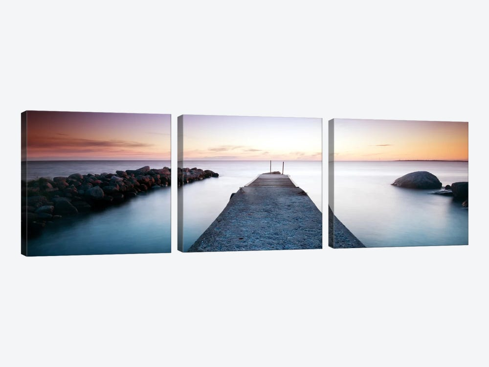 Placid Pier by Andreas Stridsberg 3-piece Canvas Wall Art