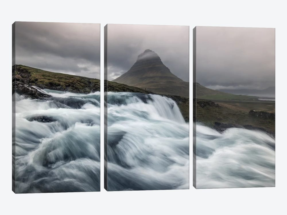 Raging River by Andreas Stridsberg 3-piece Canvas Artwork