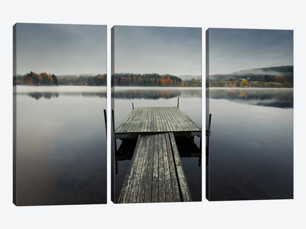Reflections Of Autumn by Andreas Stridsberg 3-piece Canvas Art Print