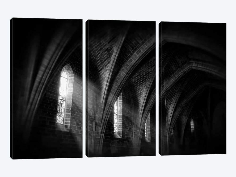 Beams Of Light by Andreas Stridsberg 3-piece Art Print