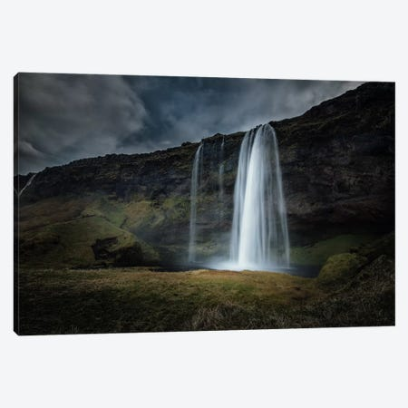 Skogafoss Canvas Print #STR55} by Andreas Stridsberg Canvas Art Print