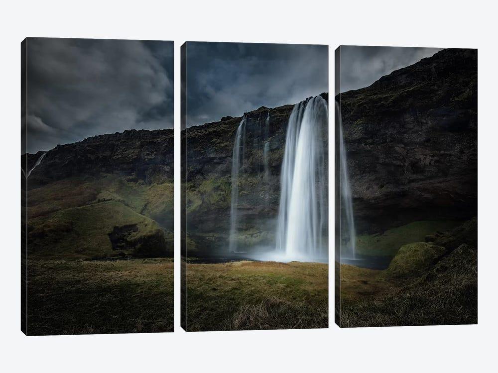 Skogafoss by Andreas Stridsberg 3-piece Canvas Wall Art