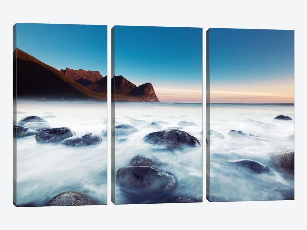 Unstad Beach by Andreas Stridsberg 3-piece Canvas Print