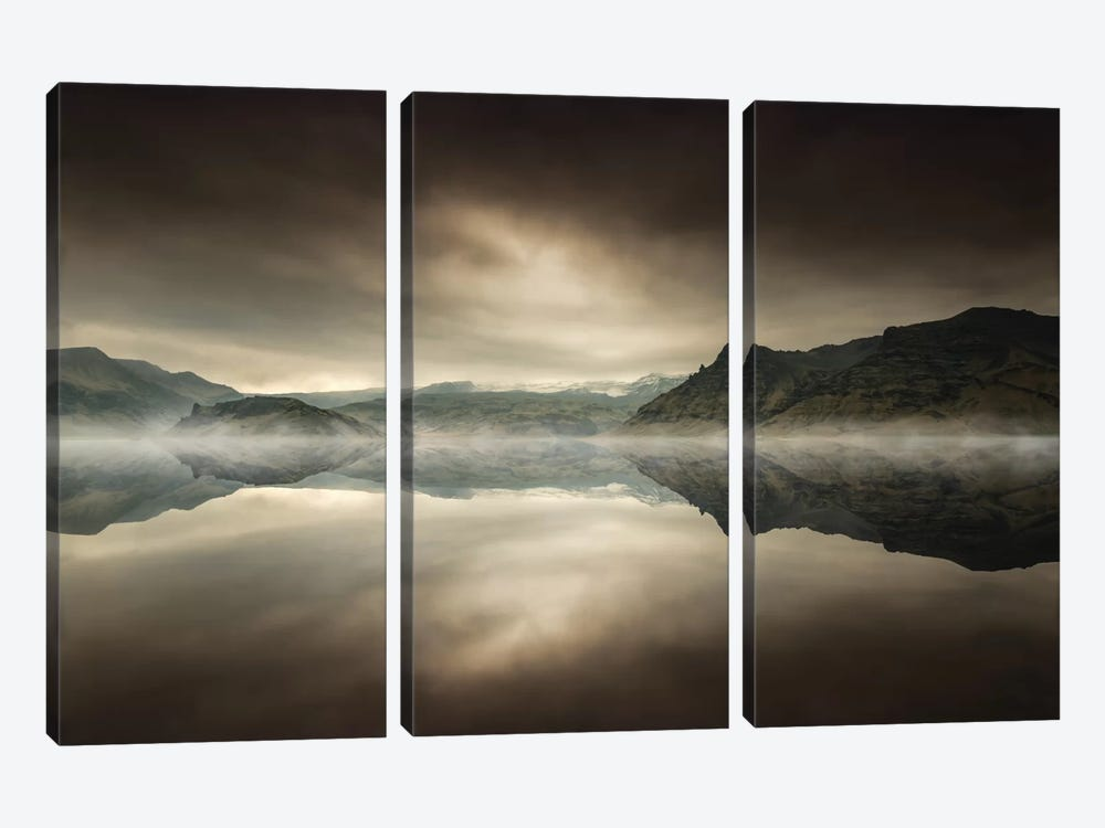 Wasteland by Andreas Stridsberg 3-piece Canvas Wall Art