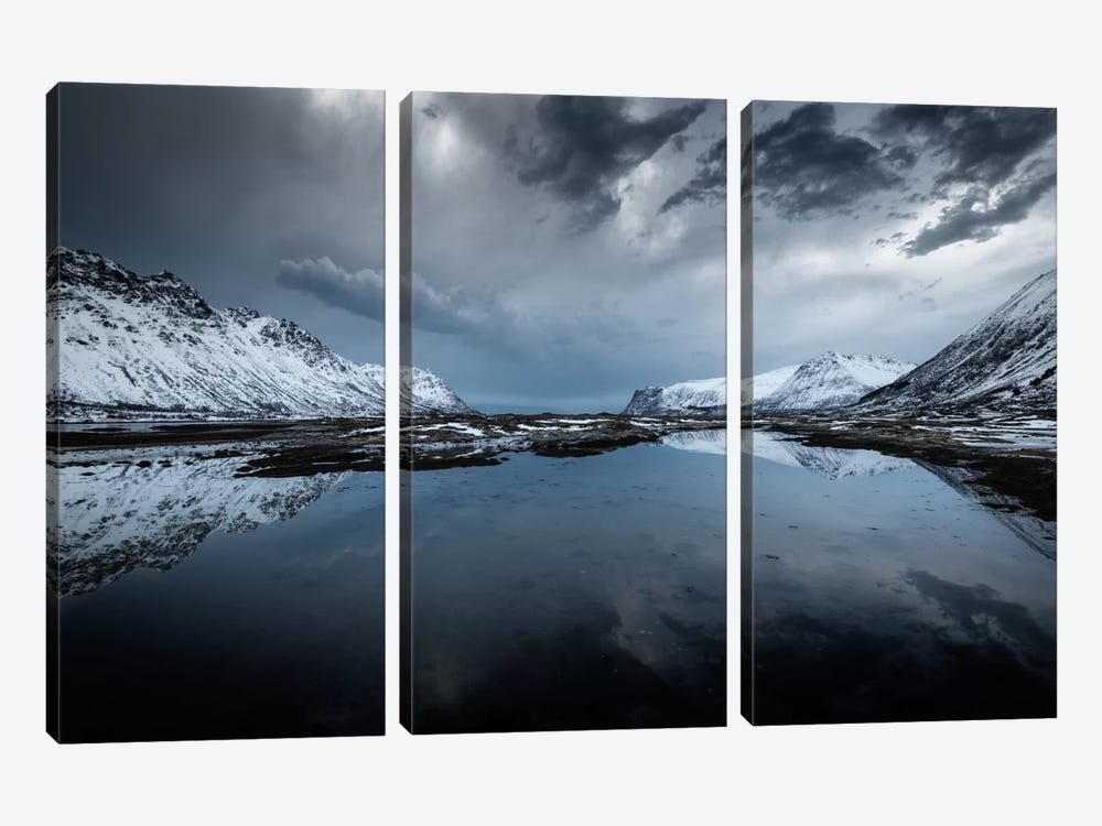 Winter Is Coming by Andreas Stridsberg 3-piece Canvas Art Print