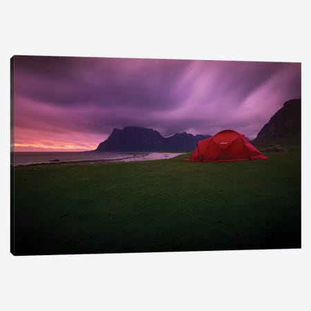 Lofoten Camping Canvas Print #STR74} by Andreas Stridsberg Canvas Art Print