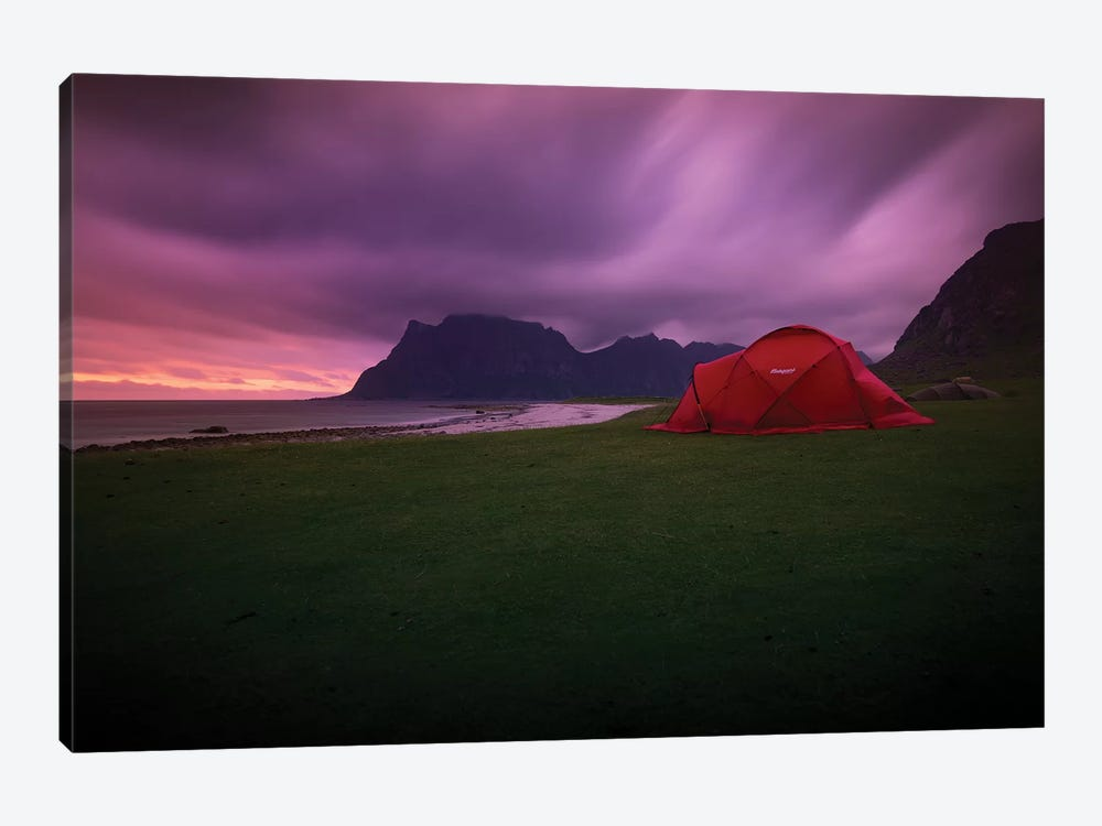 Lofoten Camping by Andreas Stridsberg 1-piece Canvas Art Print