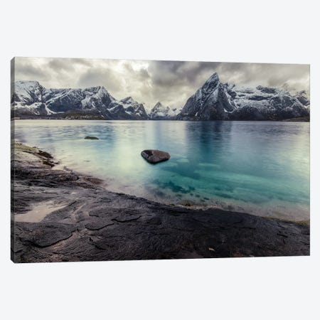 Lofoten Crystal Blue Canvas Print #STR77} by Andreas Stridsberg Canvas Print
