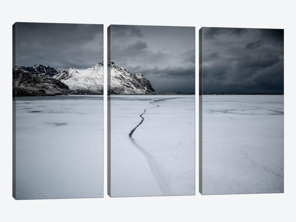 Lofoten Frozen by Andreas Stridsberg 3-piece Canvas Print