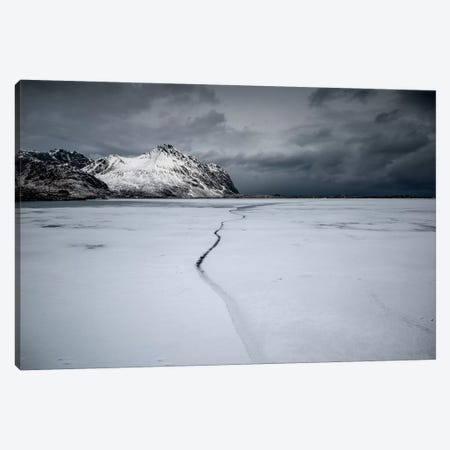 Lofoten Frozen Canvas Print #STR78} by Andreas Stridsberg Canvas Art