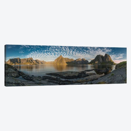 Lofoten Mountains Canvas Print #STR81} by Andreas Stridsberg Art Print