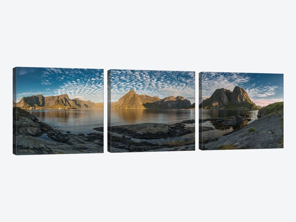 Lofoten Mountains by Andreas Stridsberg 3-piece Canvas Print