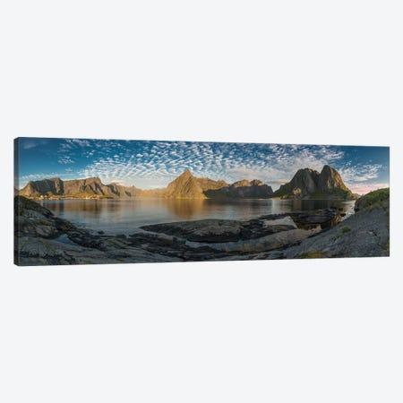 Lofoten Mountains Canvas Print #STR81} by Andreas Stridsberg Art Print