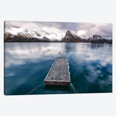 Lofoten Pier Canvas Print #STR82} by Andreas Stridsberg Canvas Print