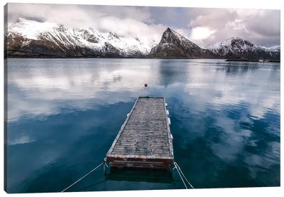 Lofoten Pier Canvas Art Print