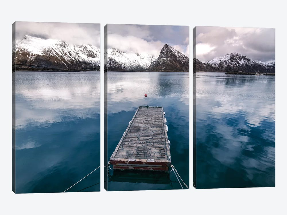 Lofoten Pier by Andreas Stridsberg 3-piece Canvas Art