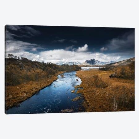 Lofoten River Canvas Print #STR83} by Andreas Stridsberg Art Print
