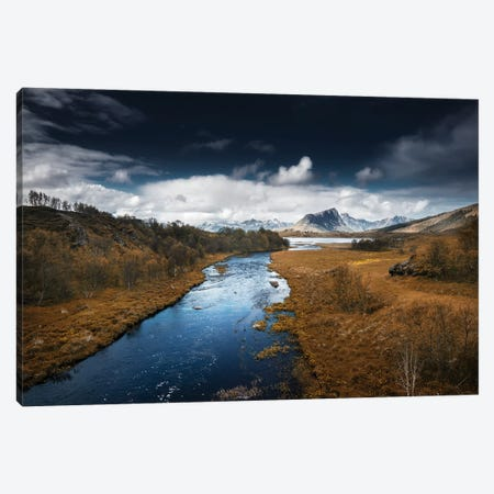 Lofoten River Canvas Print #STR83} by Andreas Stridsberg Art Print