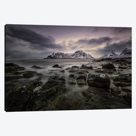 Lofoten Shore Canvas Print #STR85} by Andreas Stridsberg Canvas Artwork