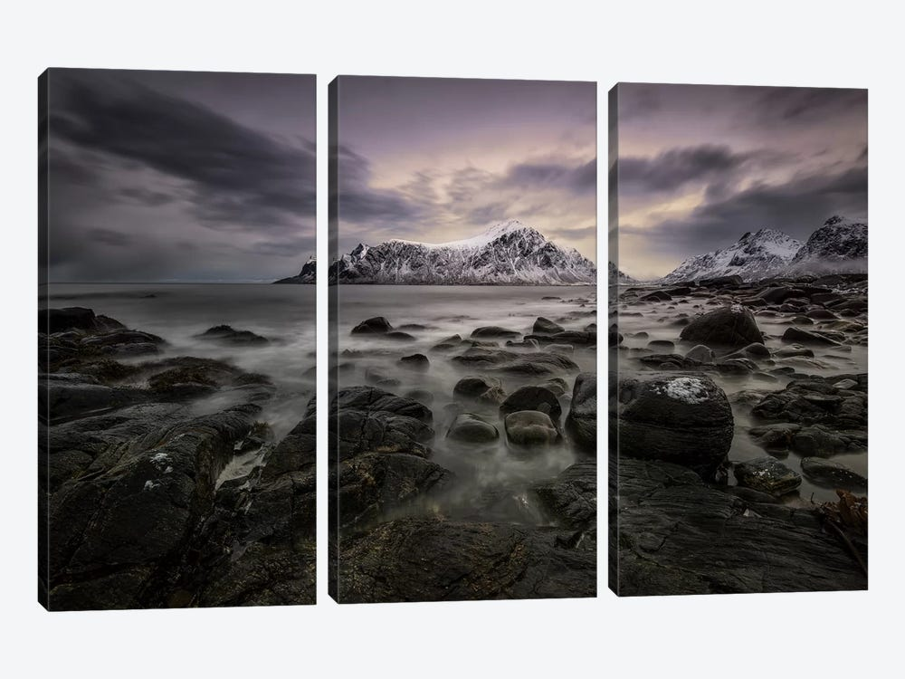 Lofoten Shore 3-piece Canvas Print
