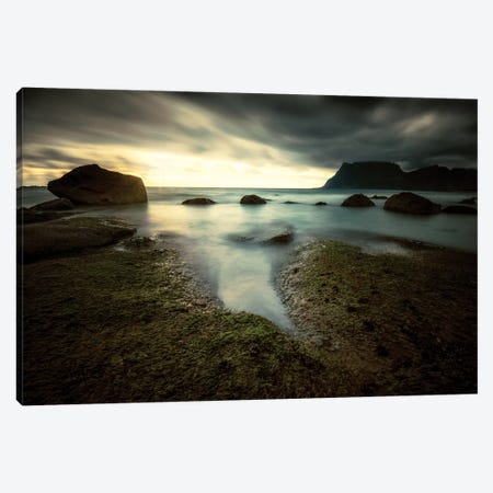 Lofoten Tide Pool Canvas Print #STR86} by Andreas Stridsberg Canvas Art
