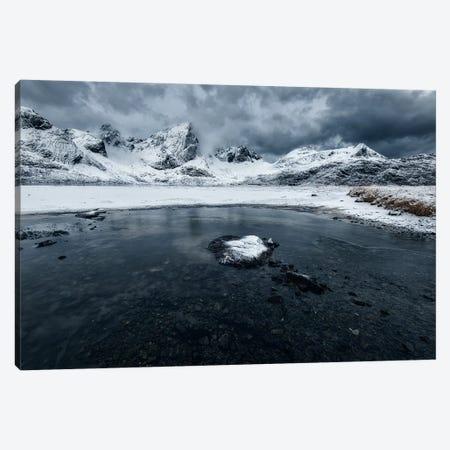 Lofoten Winter Canvas Print #STR87} by Andreas Stridsberg Canvas Art