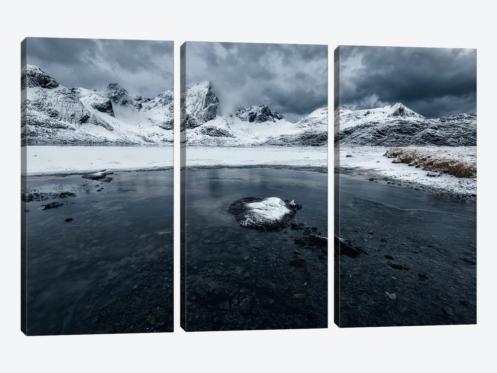Lofoten Winter by Andreas Stridsberg 3-piece Art Print
