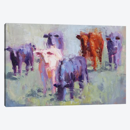Cow Study of Mixer Canvas Print #STT21} by Jennifer Stottle Taylor Canvas Art Print