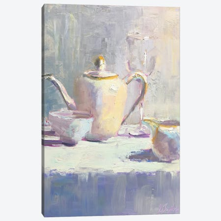 Ivory Teaset Canvas Print #STT35} by Jennifer Stottle Taylor Art Print