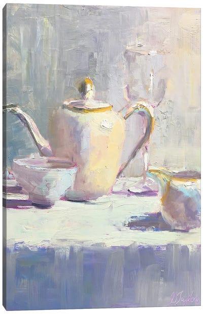 Ivory Teaset Canvas Art Print