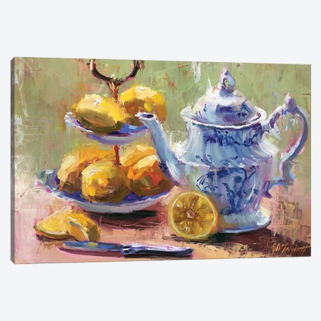 Lemons Toute de Suit Canvas Print #STT39} by Jennifer Stottle Taylor Canvas Artwork