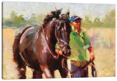 After the Race Canvas Art Print