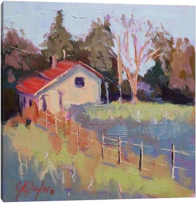 Little Cottage Canvas Art Print