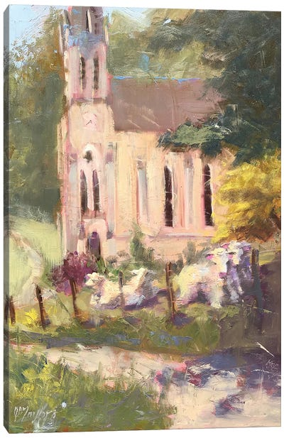 Sunday Worship Canvas Art Print