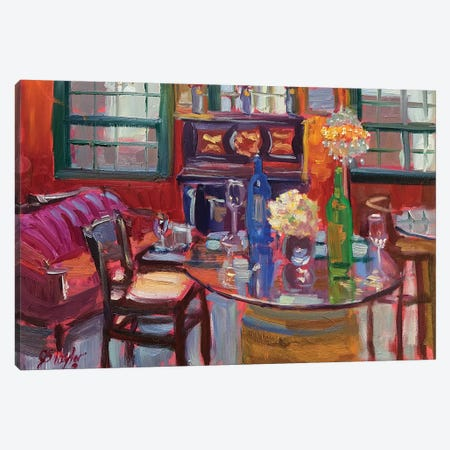 The Red Tasting Room Canvas Print #STT85} by Jennifer Stottle Taylor Canvas Art