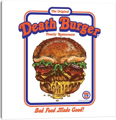 Death Burger Canvas Art Print