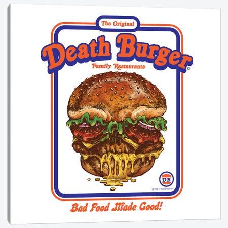 Death Burger Canvas Print #STV12} by Steven Rhodes Canvas Art
