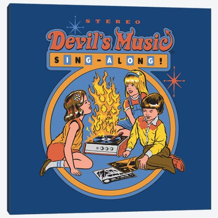 Devil's Music Sing-Along Canvas Print #STV14} by Steven Rhodes Canvas Art Print