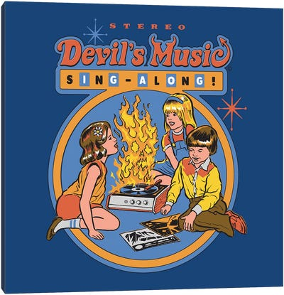 Devil's Music Sing-Along Canvas Art Print