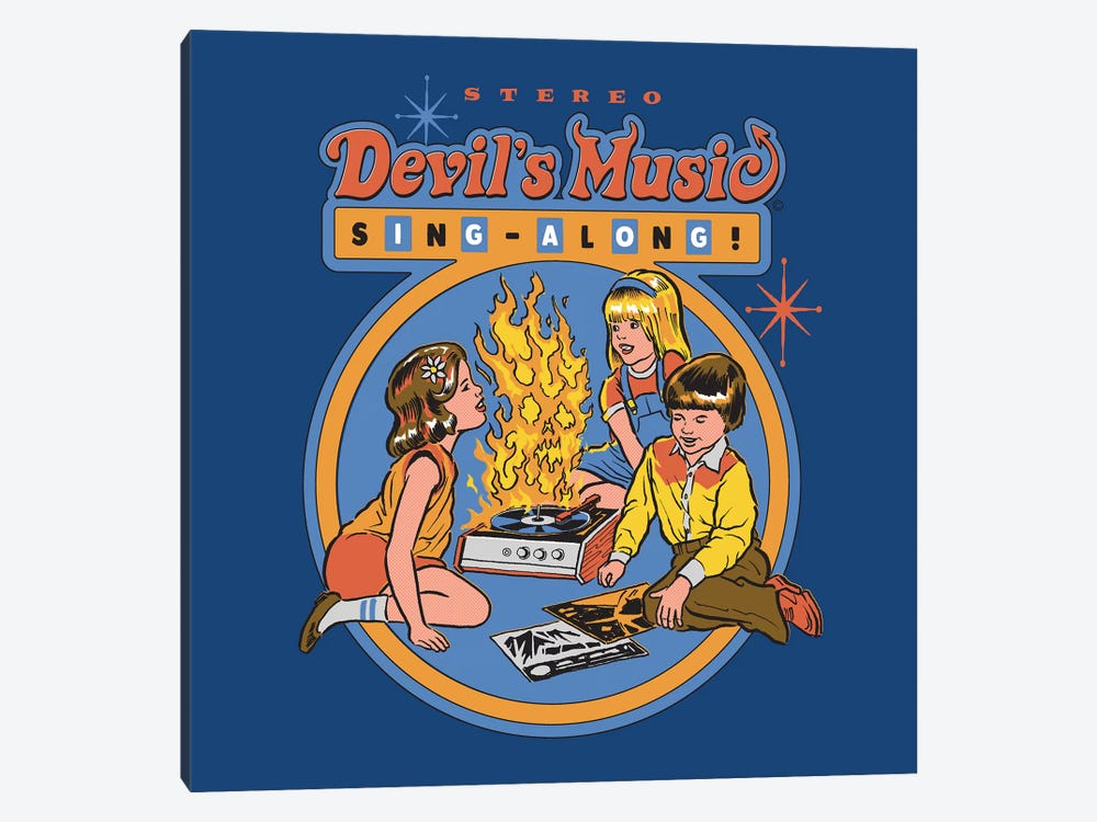 Devil's Music Sing-Along by Steven Rhodes 1-piece Canvas Wall Art